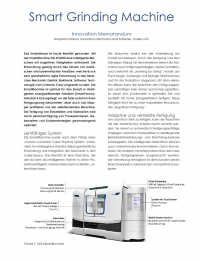 White Paper: Smart Grinding Machine